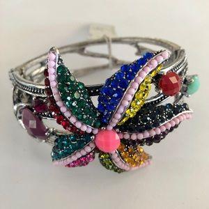 Jewelry - NWT Starfish Bejeweled Crystal Bracelet